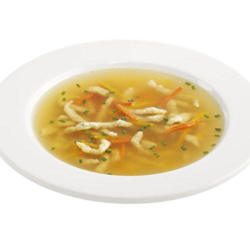 Gemüsesuppe mit Kräutertropfteig