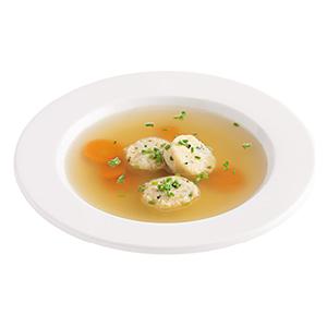 Gemüsesuppe mit Grießdukaten